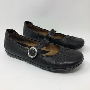 Born Mary Jane Flat Shoes Size 10 Brown Leather